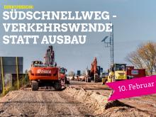 Veranstaltungshinweis: Südschnellweg - Verkehrwende statt Ausbau